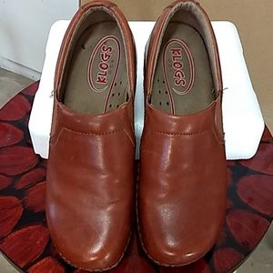 Klogs rusty brown shoes